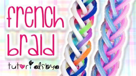 french braid rainbow loom monster tail bracelet tutorial   youtube