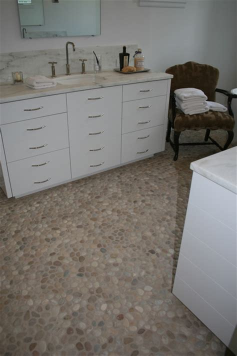 pebble bathroom floor island stone pebble bathroom floor modern tile other
