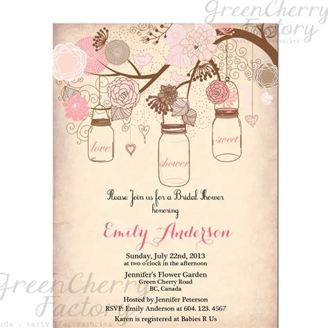 jar bridal shower invitations templates vintage bridal shower invitation templates free projects