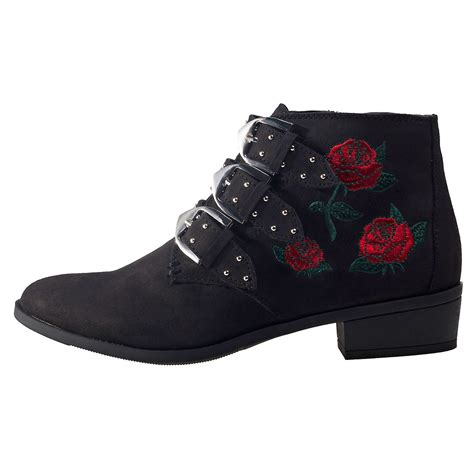 shoe city shoes for city shoes suede look womens boots in black floral