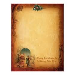 vintage christmas letter paper letterhead zazzle
