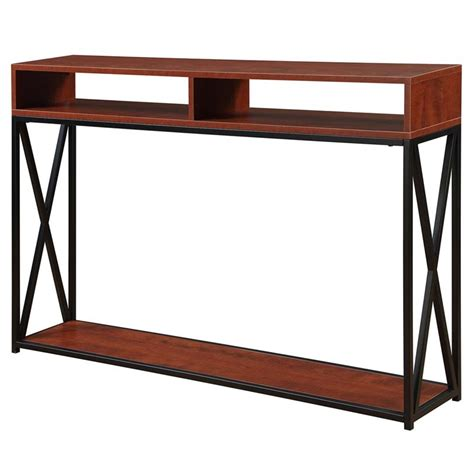 convenience concepts tucson console table convenience concepts tucson deluxe 2 tier console table in