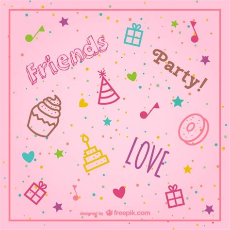 birthday pattern pink vector stylish pink birthday background vector vector free download
