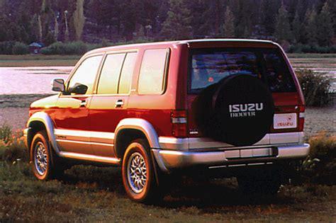 best auto repair manual 1993 isuzu space parking system 1992 02 isuzu trooper consumer guide auto