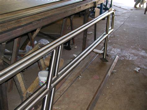 steel banisters stair
