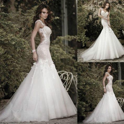 Ebay Designer Wedding Dresses by 2015 Galia Lahav Bridal Gowns Mermaid Spaghetti