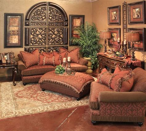 Tuscan Living Room Furniture Wall Home Decor Tuscan Mediterranean Napa Etc