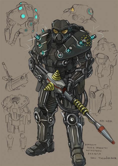 Tesla Armour Enclave Tesla Powerarmor By Tugodoomer On Deviantart