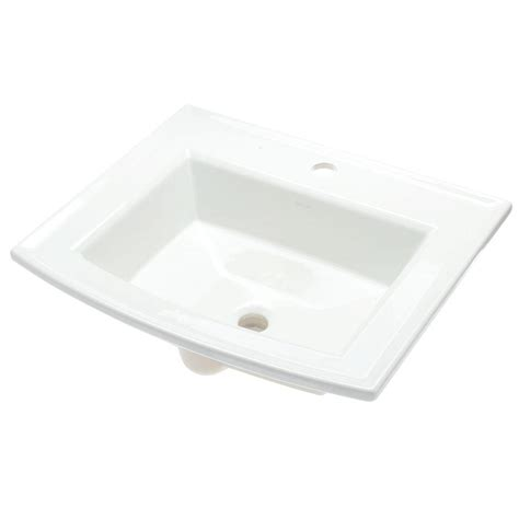 bathroom drop in sinks kohler pennington drop in vitreous china bathroom sink in