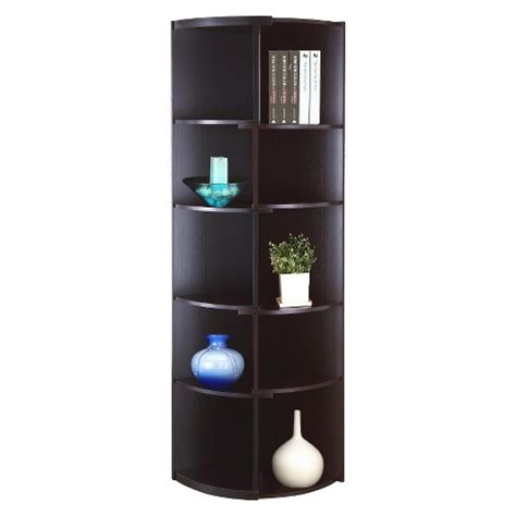 bookshelves target greco corner bookcase homes inside out target