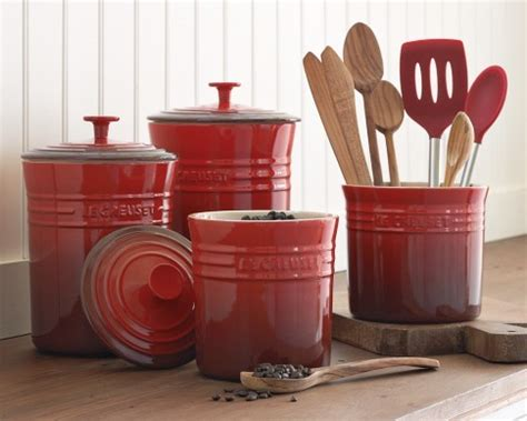 kitchen canisters and jars le creuset enameled stoneware canisters traditional
