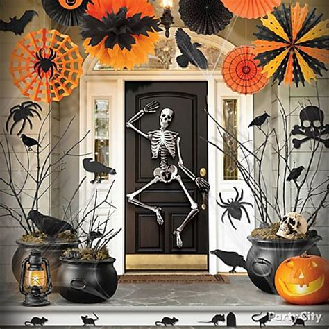 halloween home decorating ideas haunted house entrance ideas party city