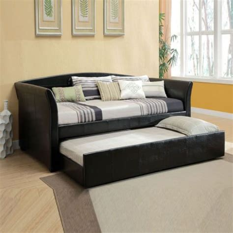 sofa trundle beds new modern day bed sofa w twin trundle guest room teens