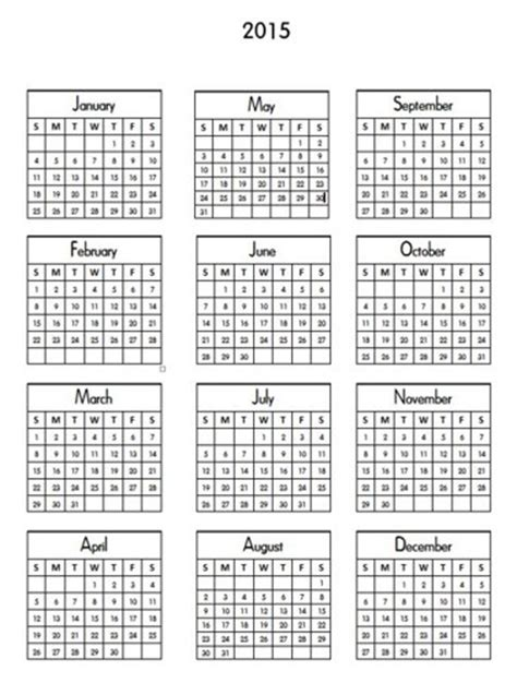 Mini Calendar Template 2015 mini calendar printable new calendar template site