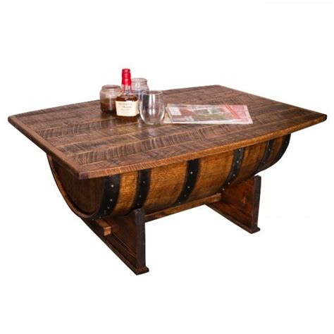 wine country coffee table uniquely whiskey barrel coffee table as seen in country living magazine