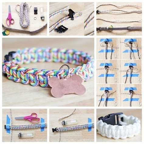 diy collar wonderful diy rainbow paracord collar