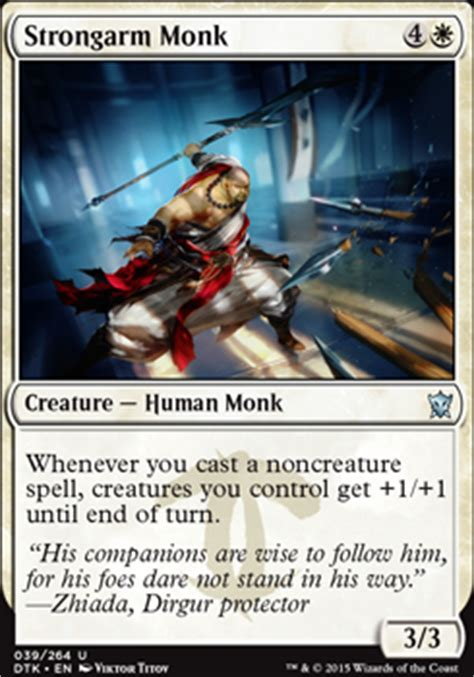 The Monk Who Cast A Spell strongarm monk dtk mtg card