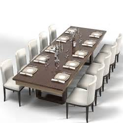 Contemporary Dining Table Sets by Modern Dining Table 3d Model