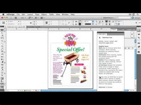 indesign online tutorial indesign cs5 tutorial exploring the interface 5 of 6