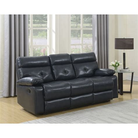 Buy Sofa Canada by Ebba Premium Leatherette Reclining Sofa Slate Sofas
