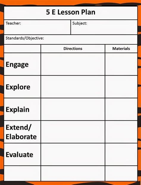 e learning strategy template the 5e model our new lesson plans 5e science lessons