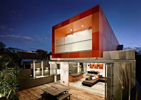 colorful contemporary houses fiery orange makes an