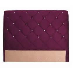 t 234 te de lit capitonn 233 e tissu 140cm violetta electro