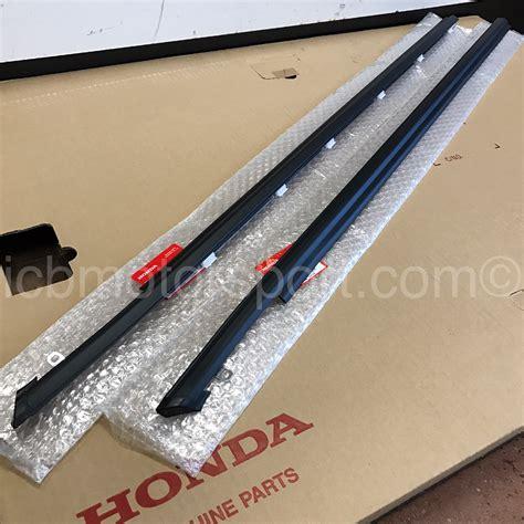 jdm honda civic ef9 88 91 door molding assembly