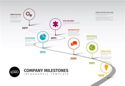 Timeline Template With Icons Other Presentation Software Templates Creative Market Timeline Presentation Template