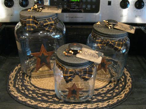 primitive kitchen canister sets canister home primitives country and craft