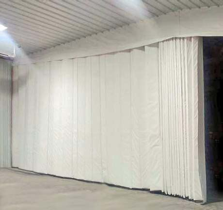 retractable curtains retractable insulated industrial curtains r value amcraft