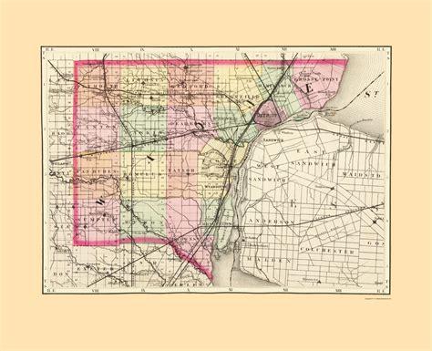 Wayne County Michigan Search County Maps Wayne County Michigan Mi By Tackabury 1873