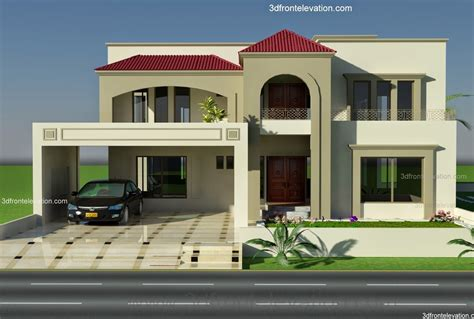 Front House Plans by 1 Kanal Plot House Design Europen Style In Bahria Town