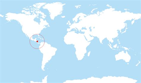 nicaragua location on world map where is nicaragua located on the world map