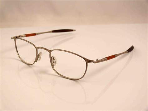 oakley titanium frame glasses