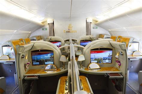 airbus a380 interni emirates airbus a380 interior stock editorial photo