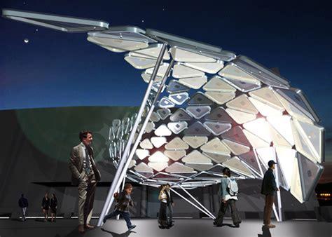 solar light installation solar shift is an interactive light installation for