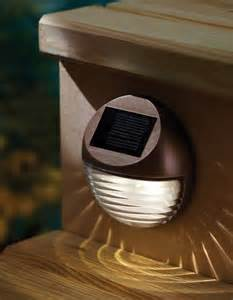 solar mini lights outdoor solar led mini deck or step light moonrays