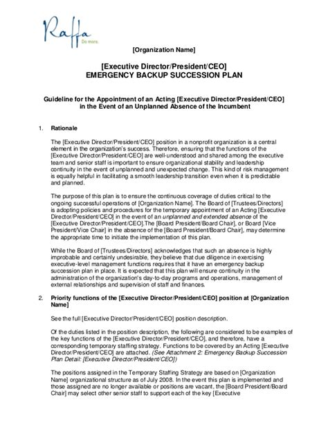 appointment letter for ceo position 2015 06 03 succession policy contingency planning for ceos