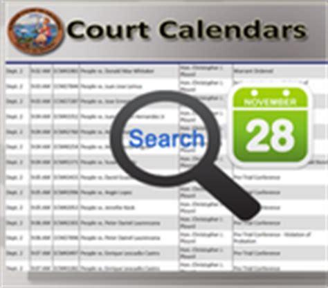 Court Calendar Clerk Court Calendars Daily Court Calendars
