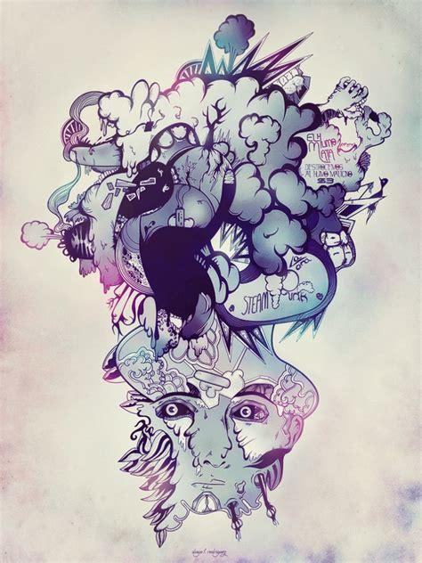 digital abstract illustrations  inspiration designbump