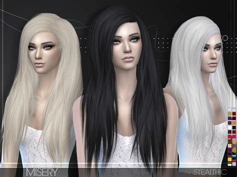 sims 4 cc hair stealthic misery hairstyle sims 4 hairs http