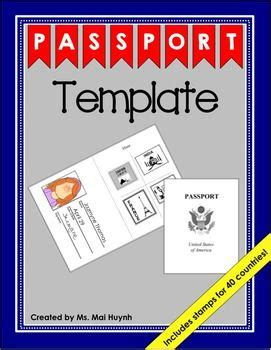 passport template passport template templates and passport
