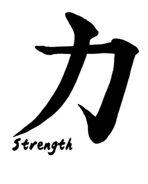 free strength or courage japanese kanji poster 8x10