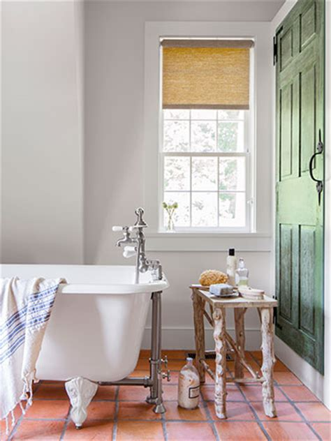 terracotta tiles bathroom living in a colonial era cottage in connecticut the