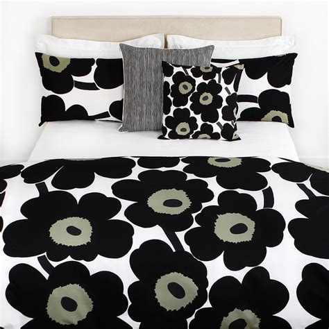 Bed Cover King Fata Black Box Berkualitas marimekko unikko duvet cover white black single at amara