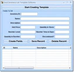 software inventory template excel excel inventory list template software