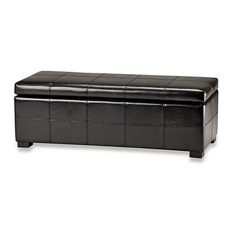Buy Safavieh Hudson Leather Tray Ottoman In Black From Bed Bath Beyond Buy Safavieh Hudson Leather Large Storage Ottoman In Black From Bed Bath Beyond