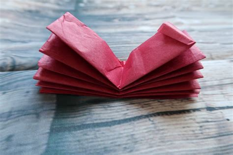 Folded Tissue Paper - simple flower crafts for