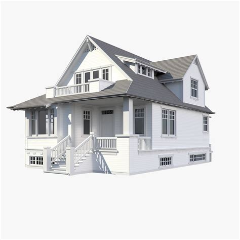 3d modeling house 3d family house model